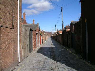 Typischer back lane in Darlington