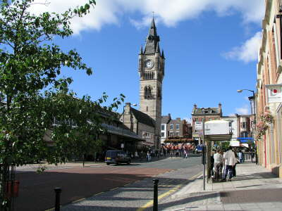 Town centre of Darlington